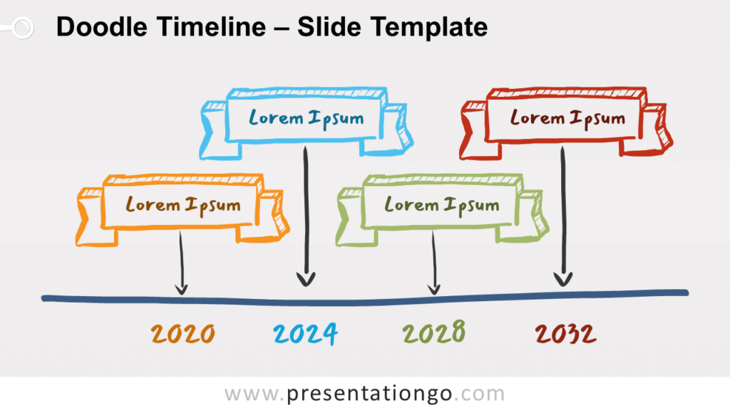 Free Doodle Timeline Diagram for PowerPoint and Google Slides