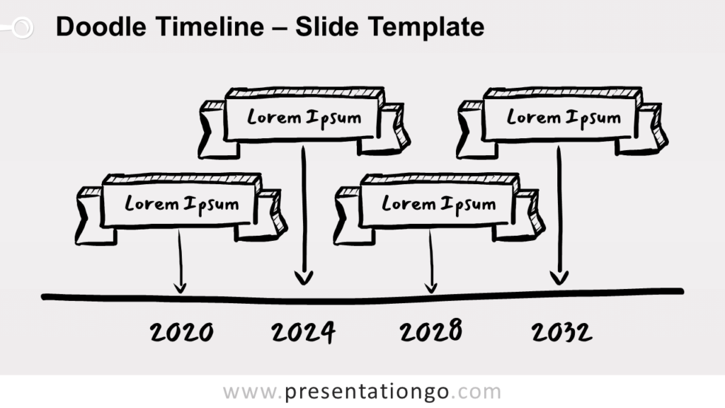 Free Doodle Timeline for PowerPoint and Google Slides