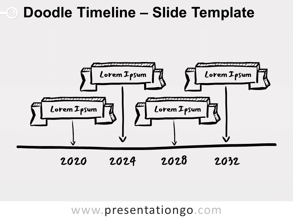 Free Doodle Timeline for PowerPoint