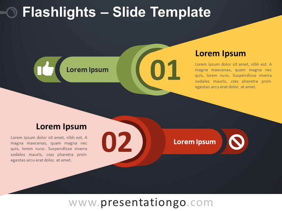 Free Flashlights Infographics for PowerPoint