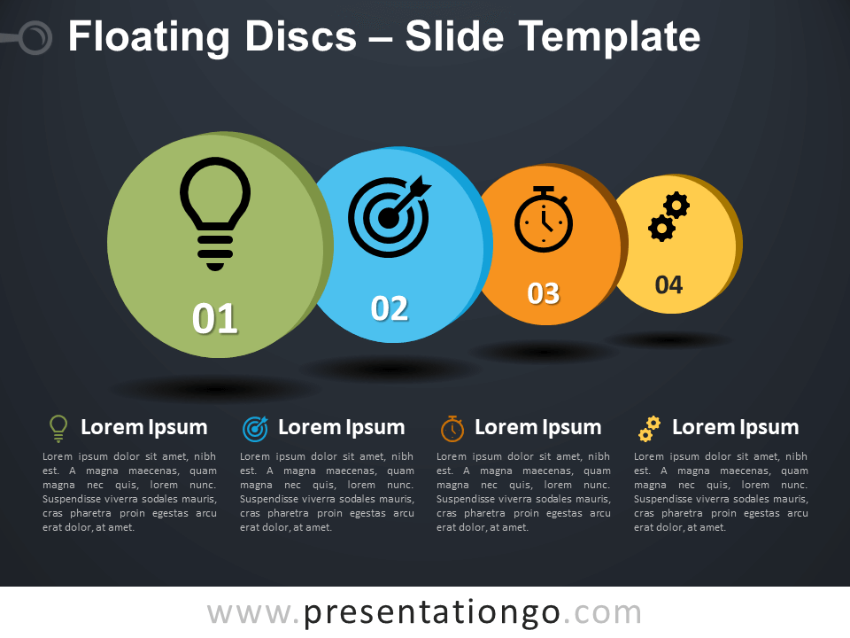 Free Floating Discs Infographic for PowerPoint