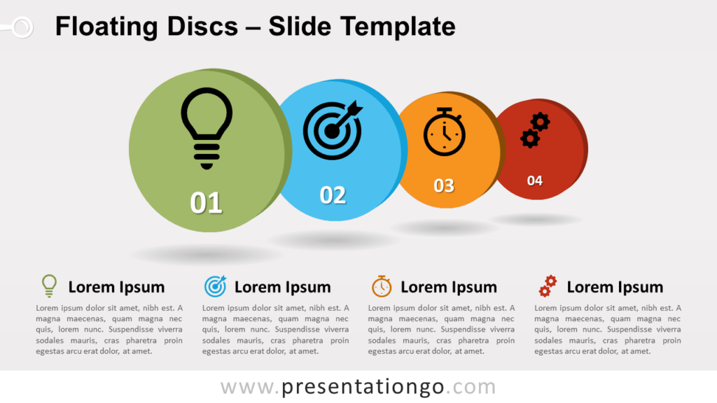 Free Floating Discs for PowerPoint and Google Slides