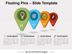 Free Floating Pins for PowerPoint
