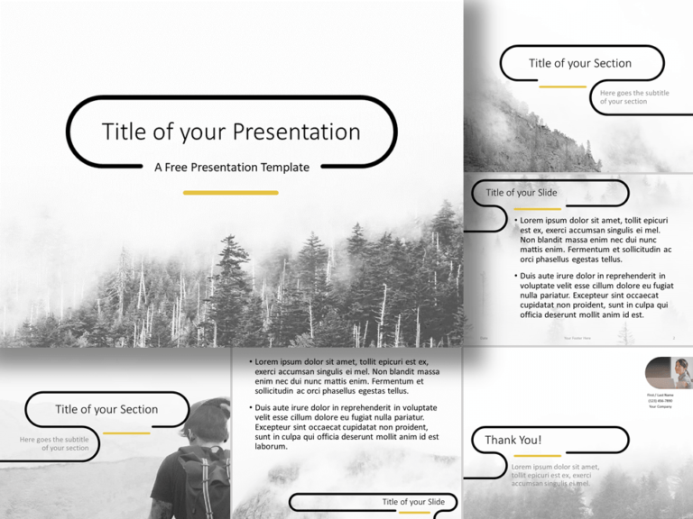 Free Foggy Forest Template for PowerPoint and Google Slides