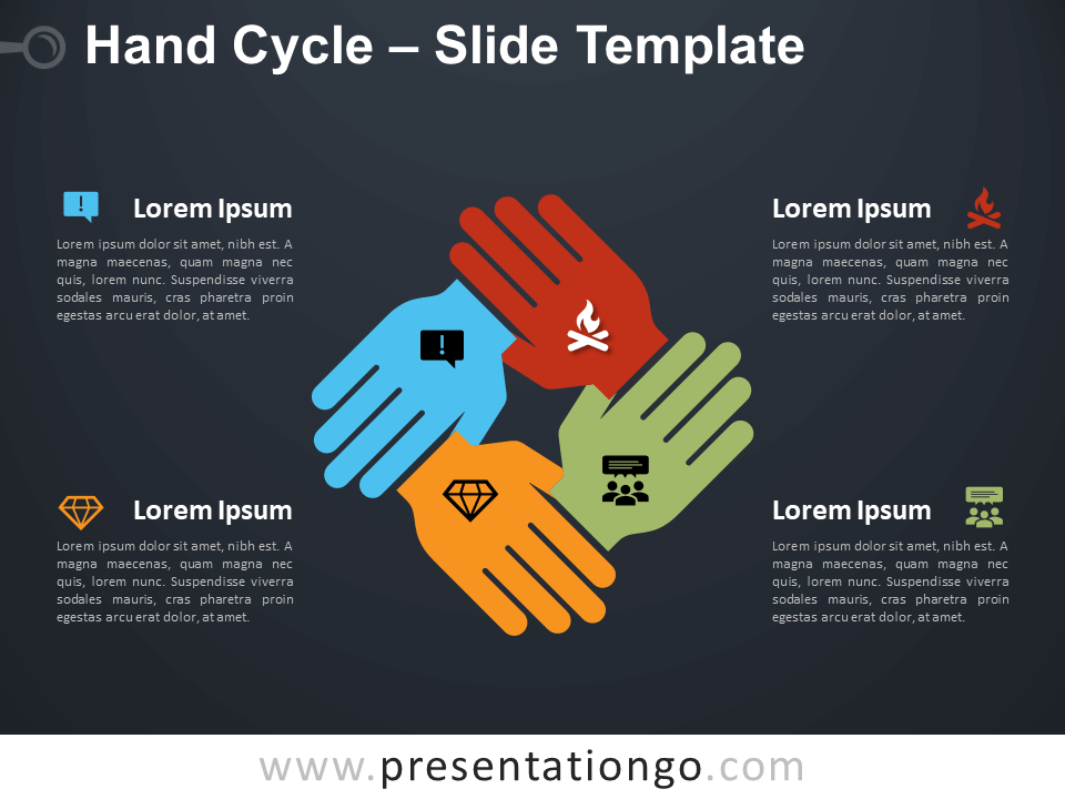 Free Hand Cycle Diagram for PowerPoint