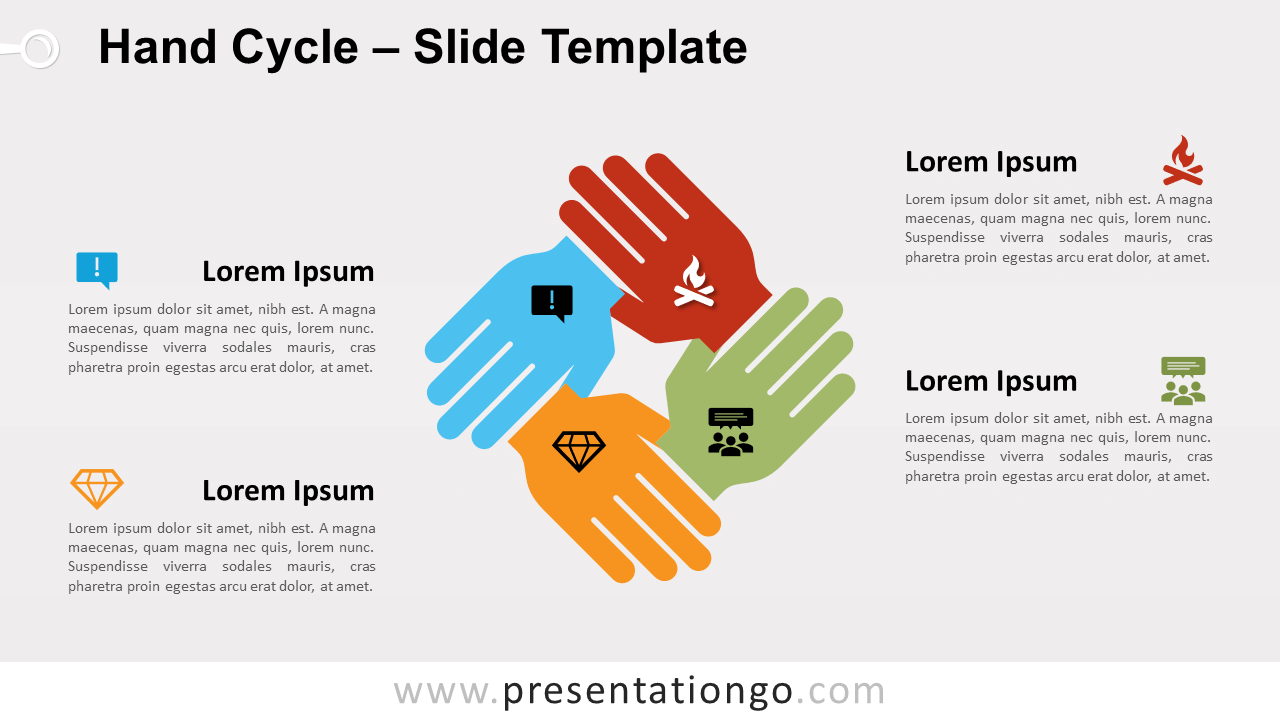 Free Hand Cycle for PowerPoint and Google Slides