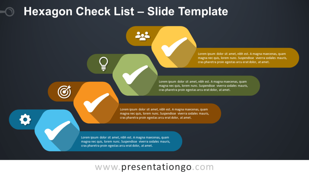 Free Hexagon Check List for Google Slides