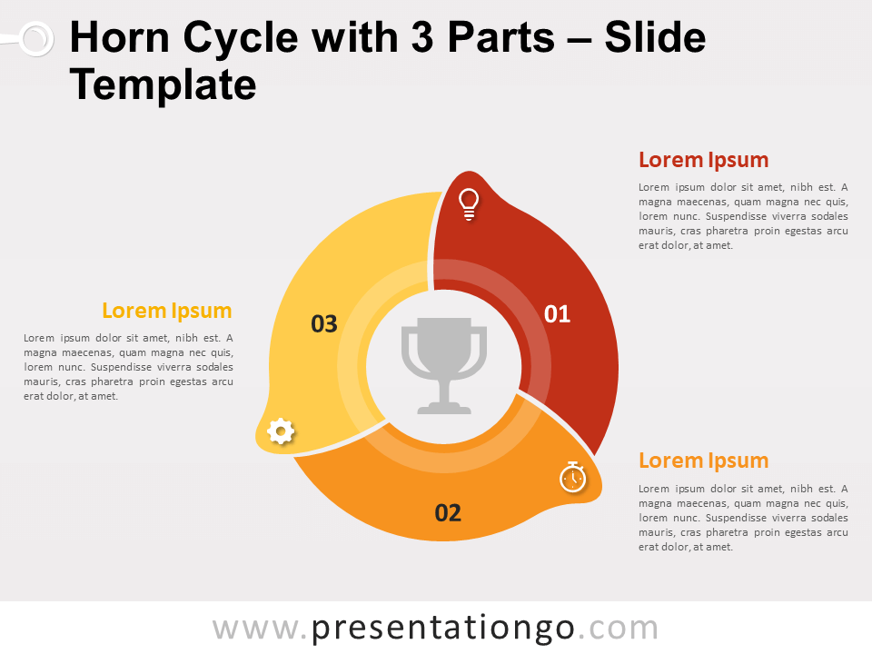 Free Horn Cycle with 3 Parts for PowerPoint
