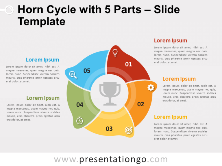 Free Horn Cycle with 5 Parts for PowerPoint