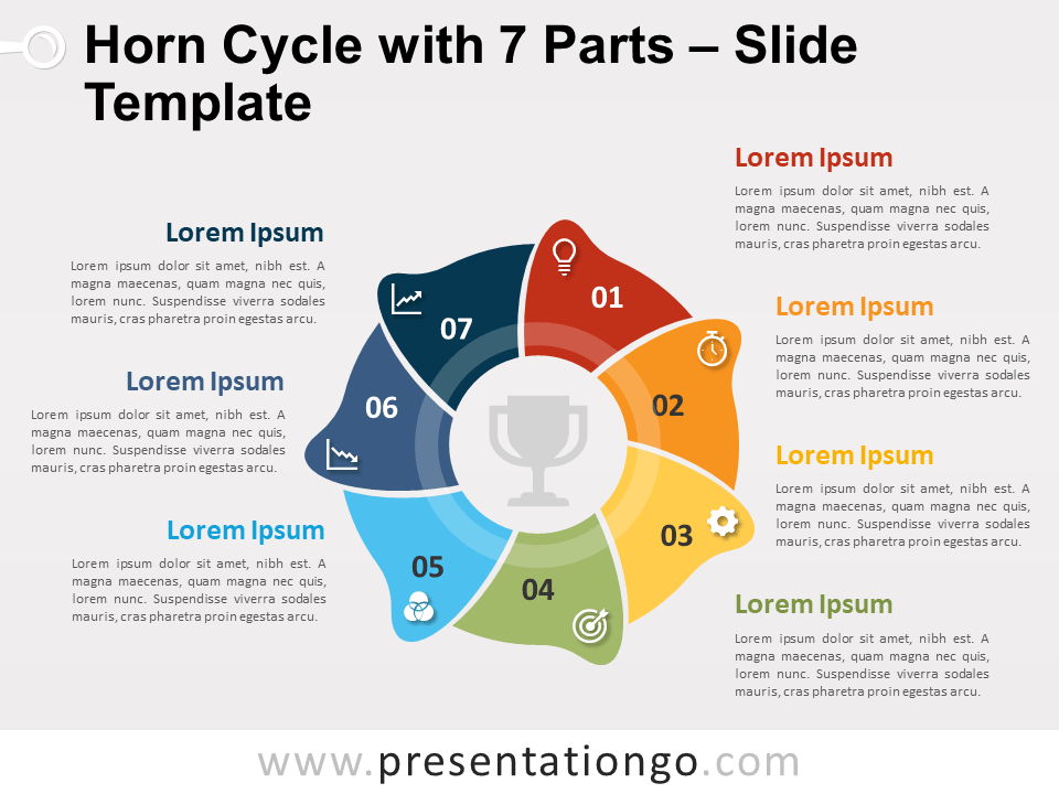 Free Horn Cycle with 7 Parts for PowerPoint