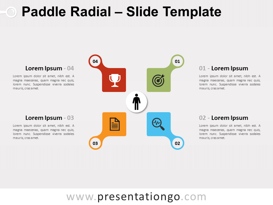 Free Infographic Paddle Radial for PowerPoint