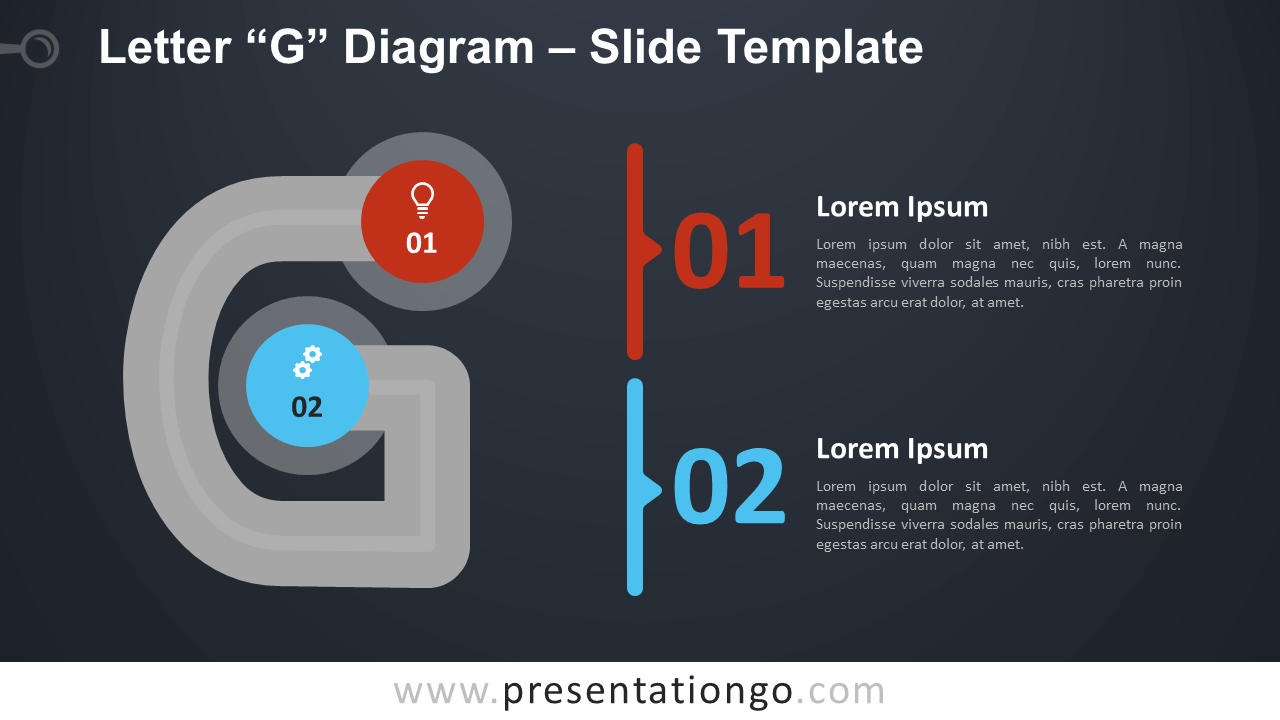 Free Letter G Diagram Infographic for PowerPoint and Google Slides