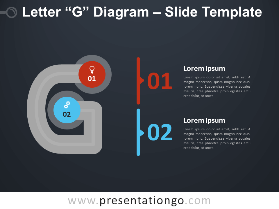 Free Letter G Diagram Infographic for PowerPoint
