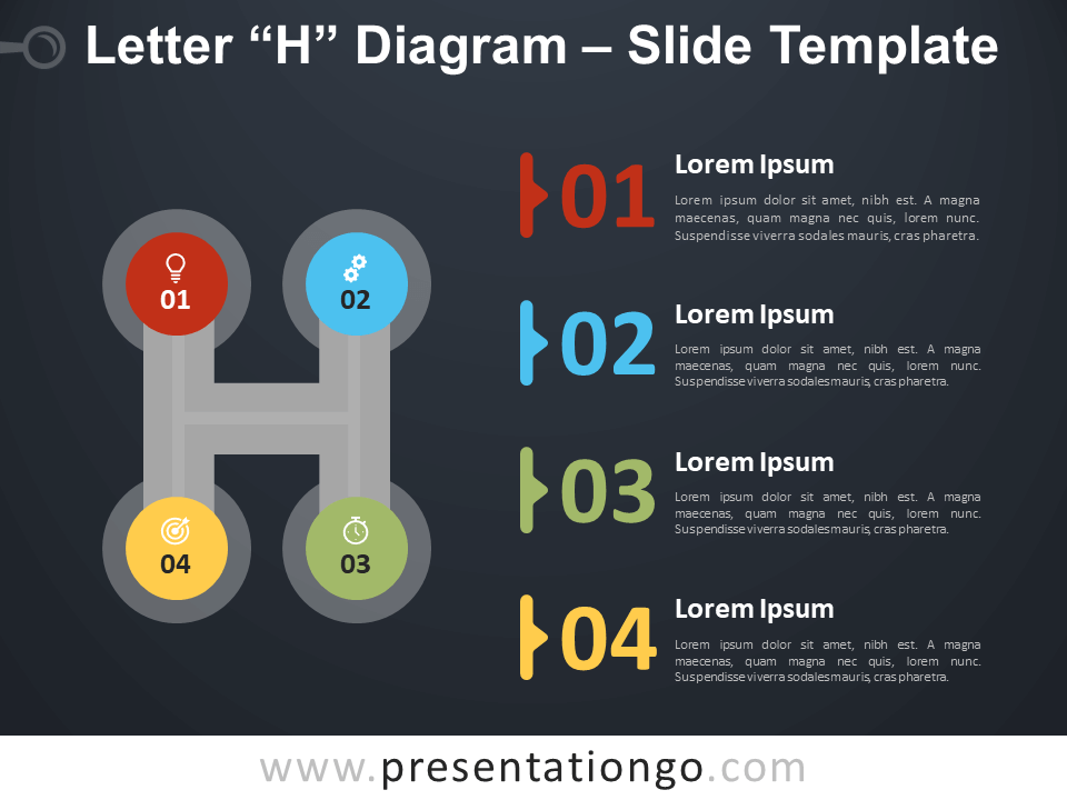Free Letter H Diagram Infographic for PowerPoint
