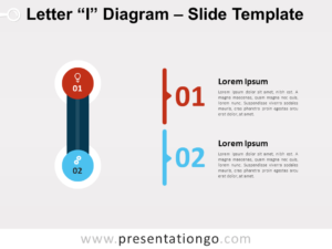 Free Letter I Diagram for PowerPoint
