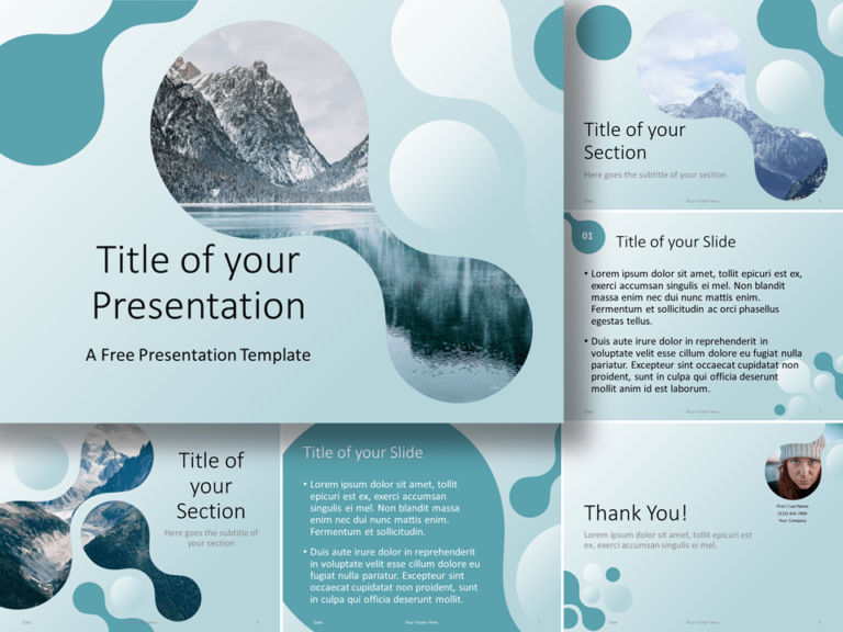 Free Molecular Template for Google Slides and PowerPoint
