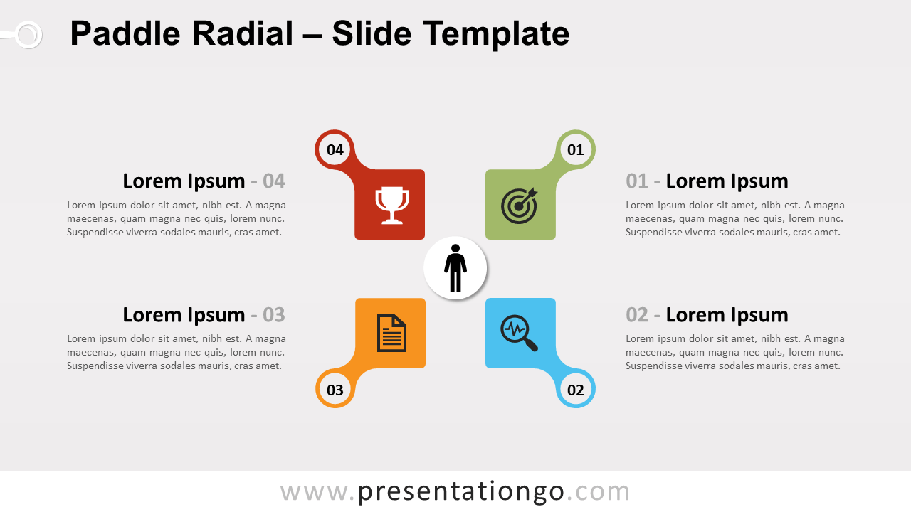Free Paddle Radial Infographic for Google Slides and PowerPoint