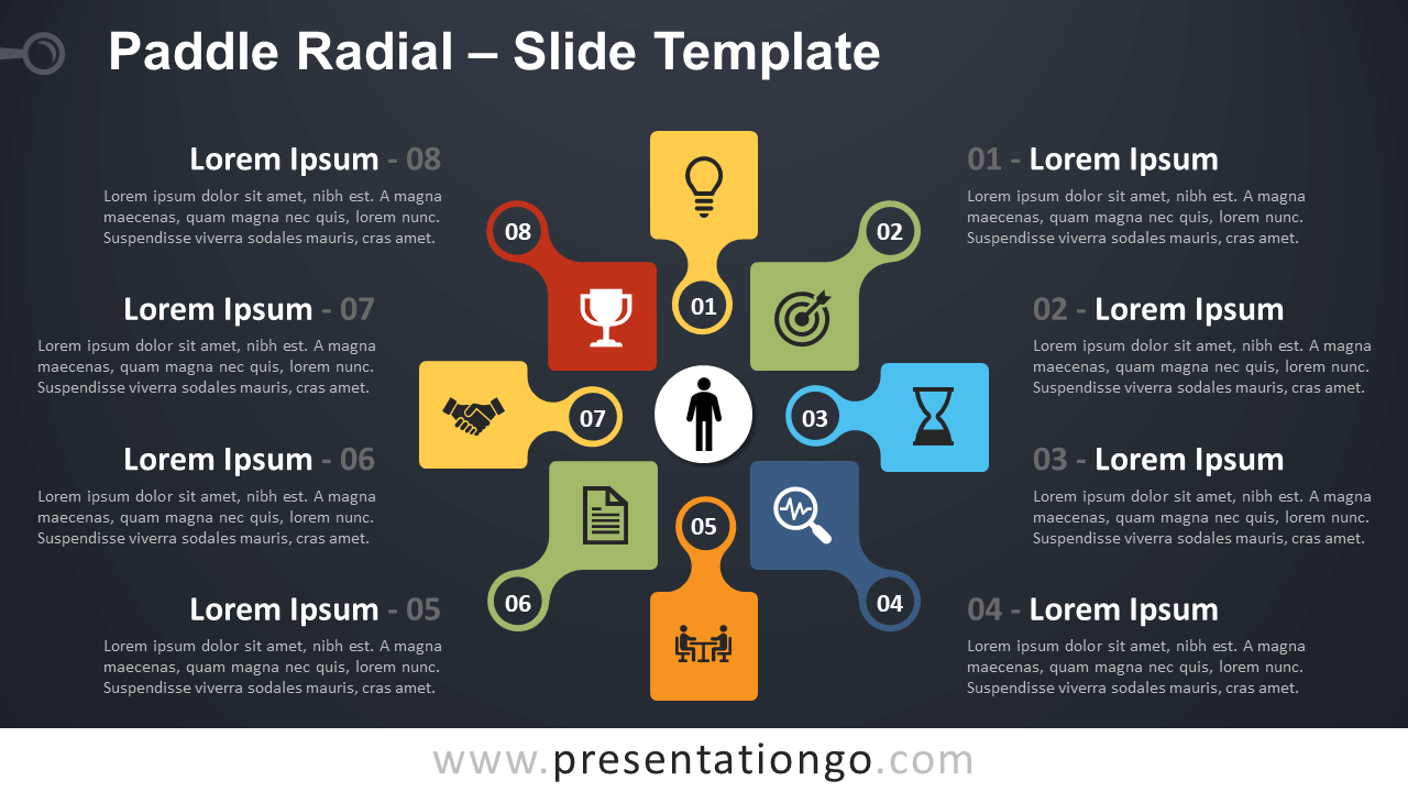 Free Paddle Radial Infographic for PowerPoint and Google Slides