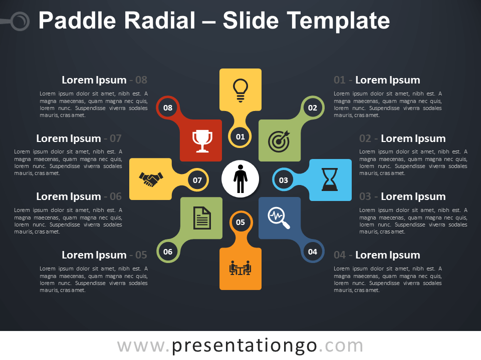 Free Paddle Radial Infographic for PowerPoint