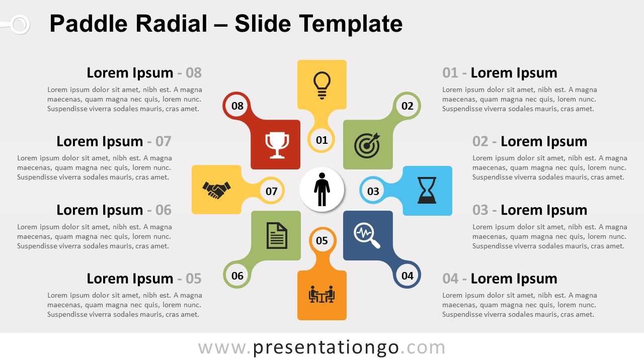 Free Paddle Radial for PowerPoint and Google Slides