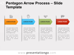 Free Pentagon Arrow Process for PowerPoint