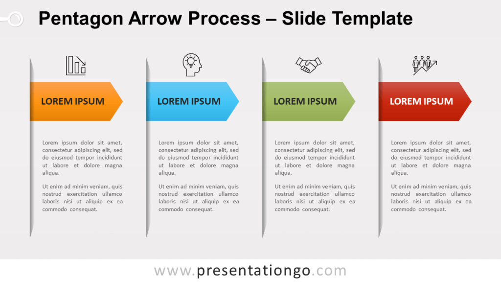 Free Pentagon Arrow Process for PowerPoint and Google Slides