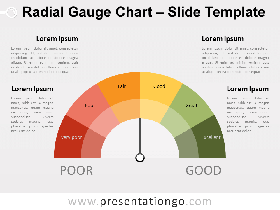 Free Radial Gauge Chart Diagram Infographics for PowerPoint