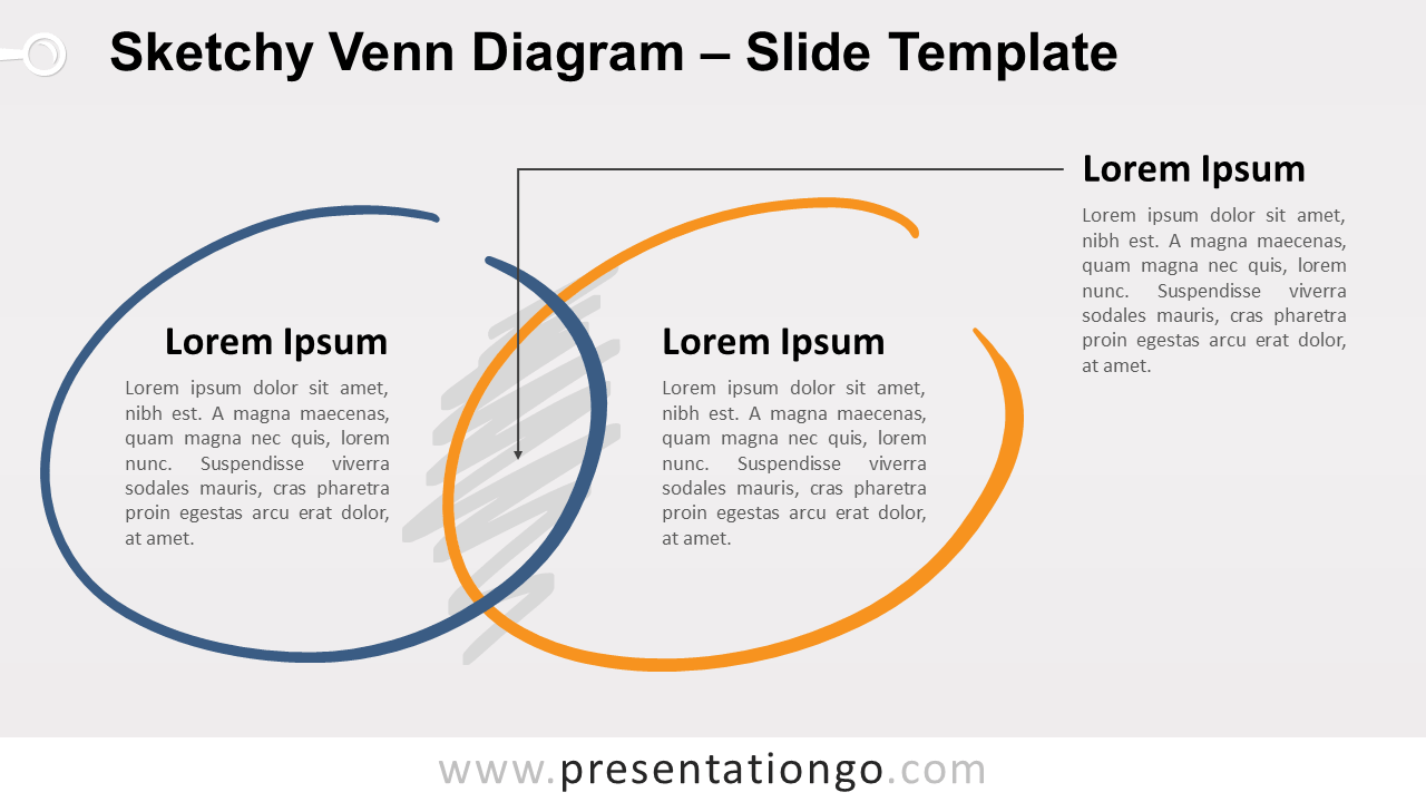 Sketchy Venn Diagram For Powerpoint And Google Slides
