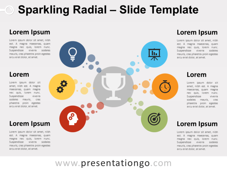 Free Sparkling Radial for PowerPoint