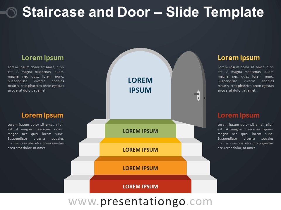 Free Staircase Door Infographic for PowerPoint