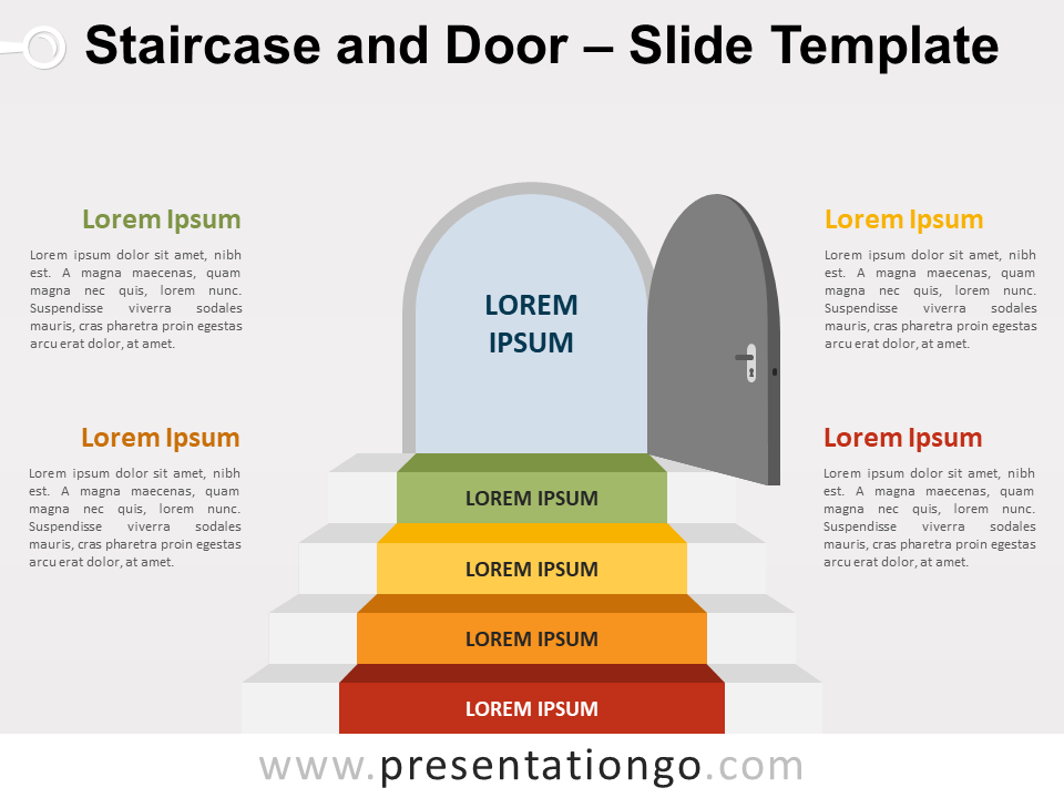 Free Staircase Door for PowerPoint