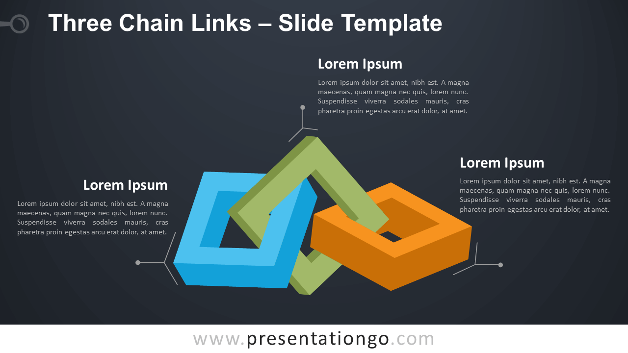 Free Three Chain Links Infographic for PowerPoint and Google Slides