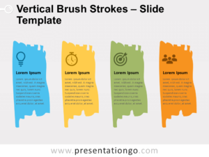 Free Vertical Brush Strokes for PowerPoint