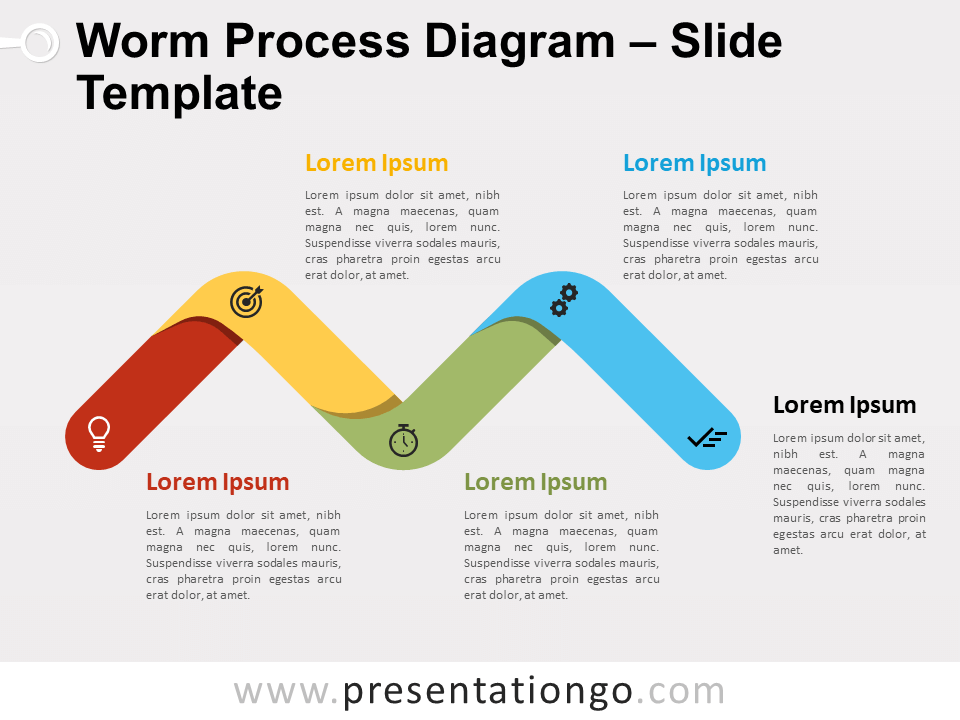 Free Worm Process Diagram for PowerPoint