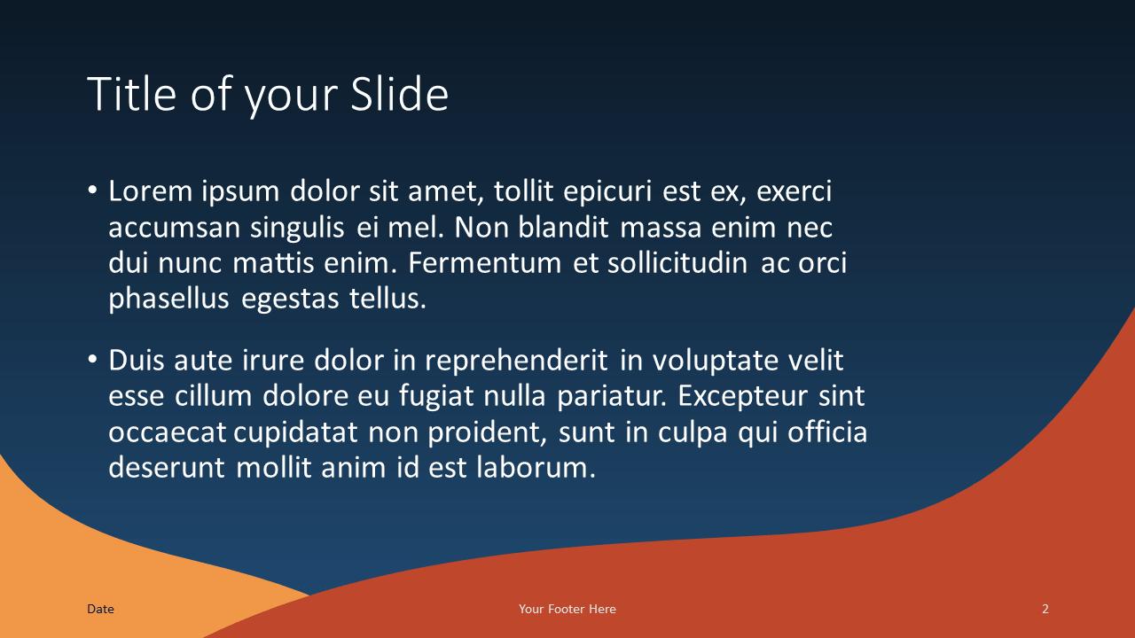 Free FLUID Template for Google Slides – Title and Content Slide (Variant 1)