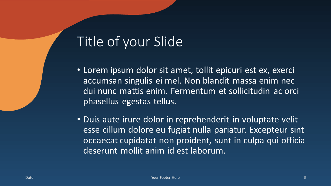 Free Fluid Template for Google Slides – Title and Content Slide (Variant 2)
