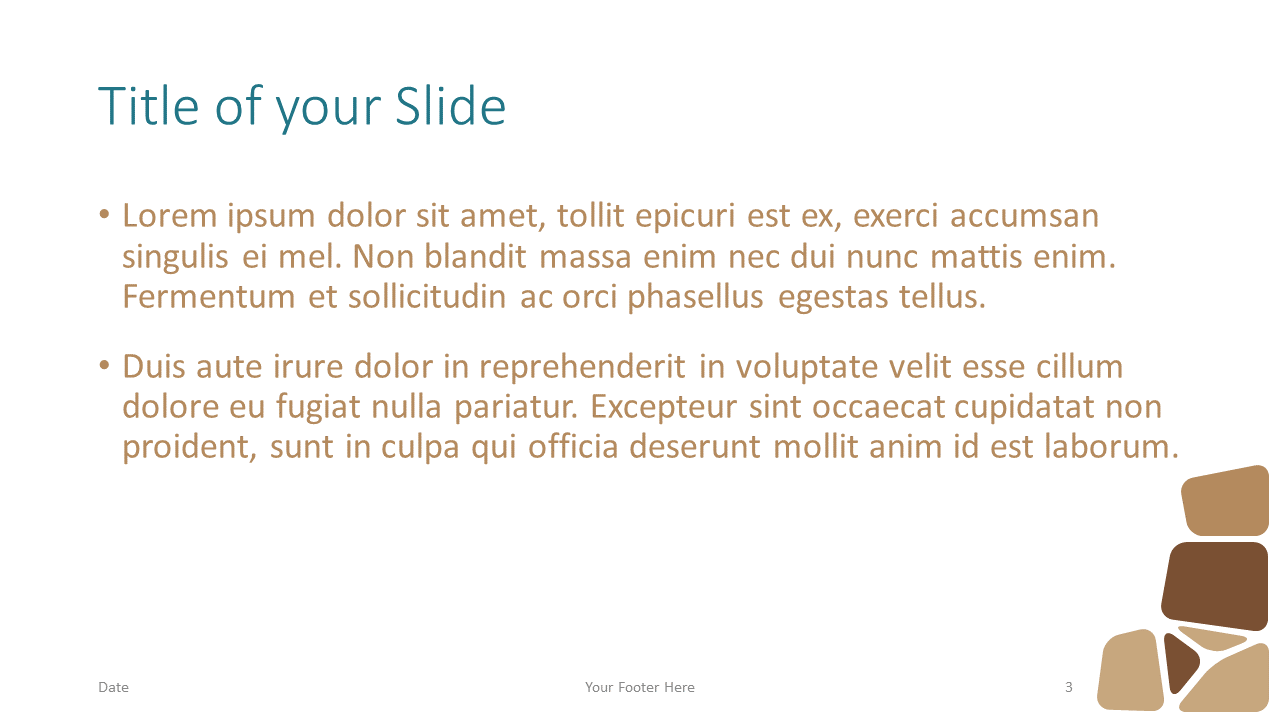 Free Stone Mosaic Template for Google Slides – Title and Content Slide (Variant 2)