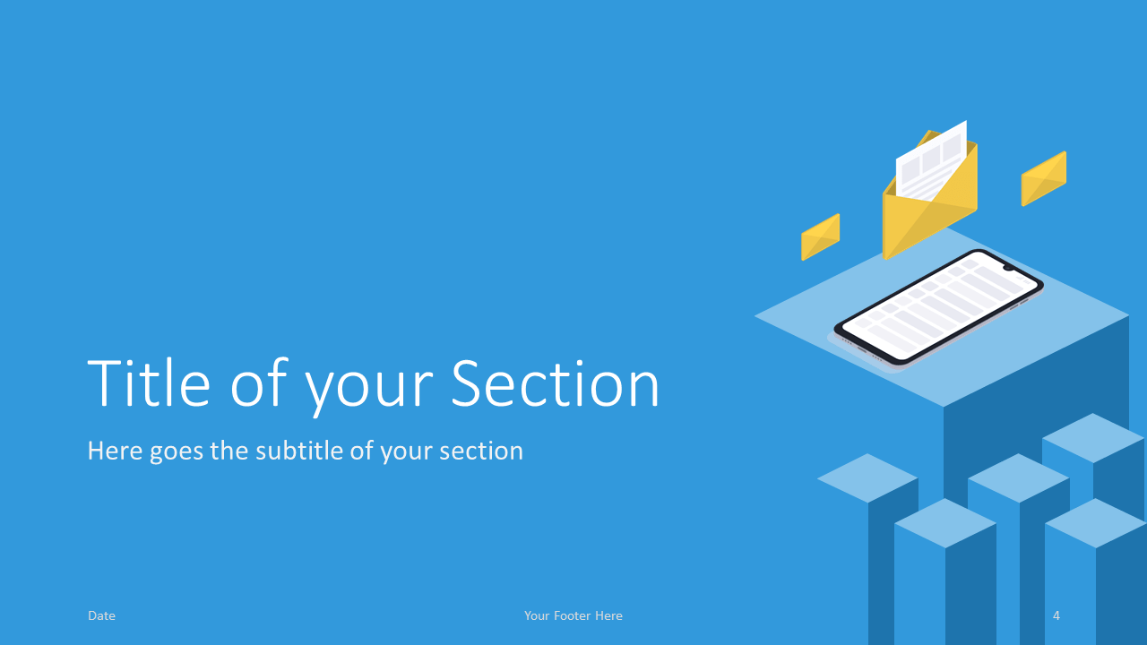 Free Isometric eLearning Template for Google Slides – Section Slide (Variant 1)
