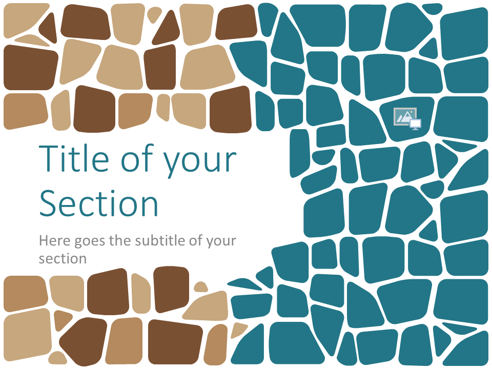 Free Stone Mosaic Template for PowerPoint – Section Slide (Variant 1)