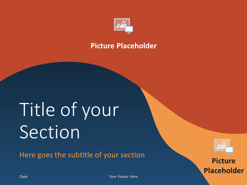 Free FLUID Template for PowerPoint – Section Slide (Variant 2)