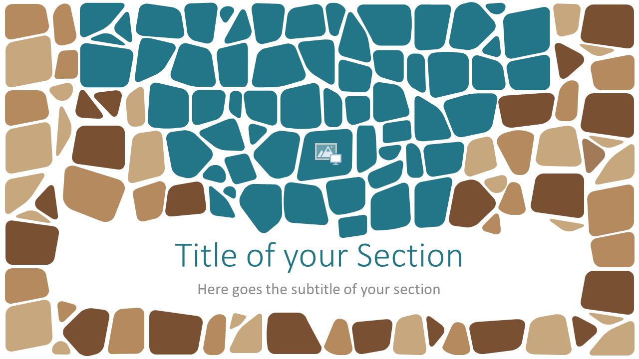Free Stone Mosaic Template for Google Slides – Section Slide (Variant 2)