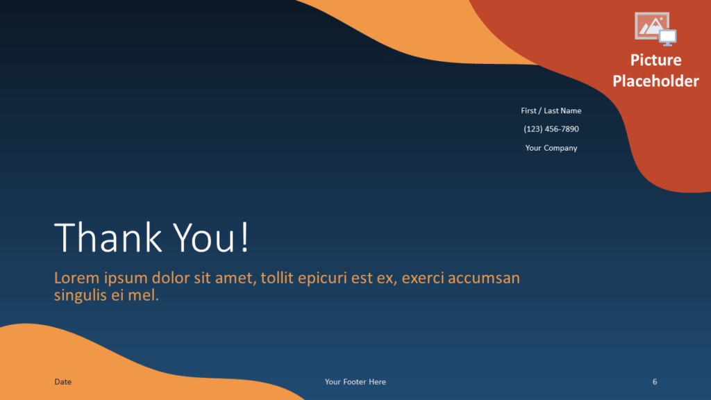 Free FLUID Template for Google Slides - Closing / Thank you