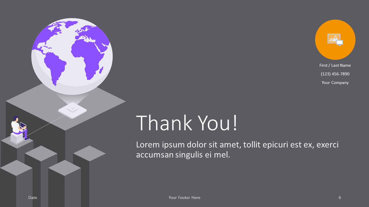 Free Isometric eLearning Template for Google Slides - Closing / Thank you