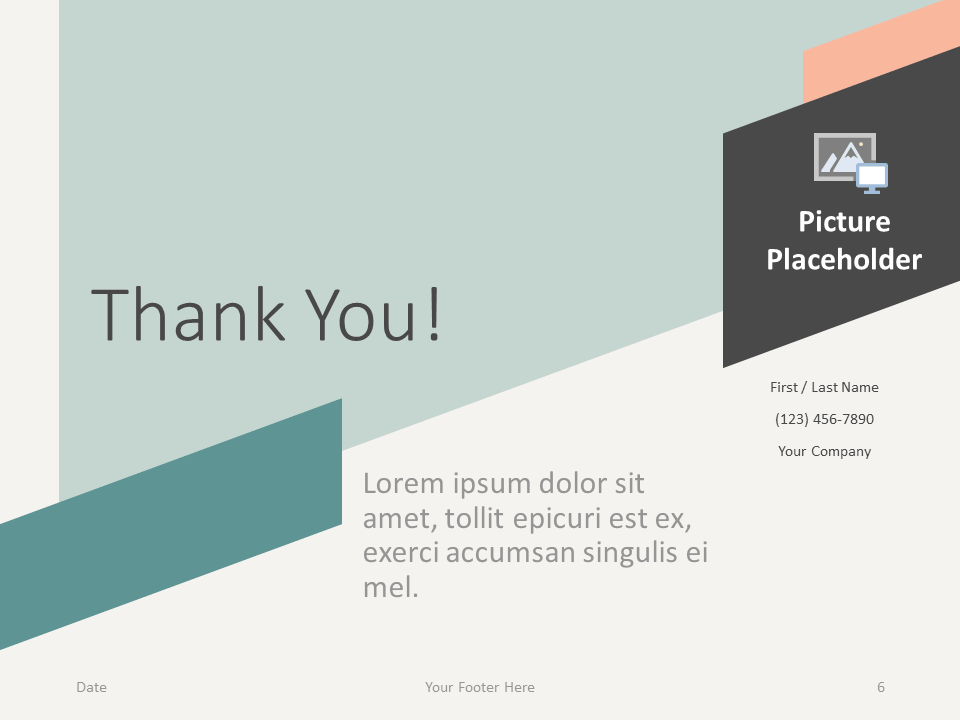 Free ROMANTIC SUMMER Template for PowerPoint - Closing / Thank you