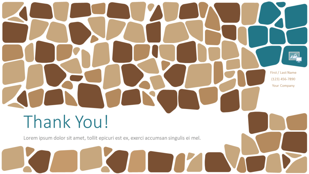 Free Stone Mosaic Template for Google Slides - Closing / Thank you