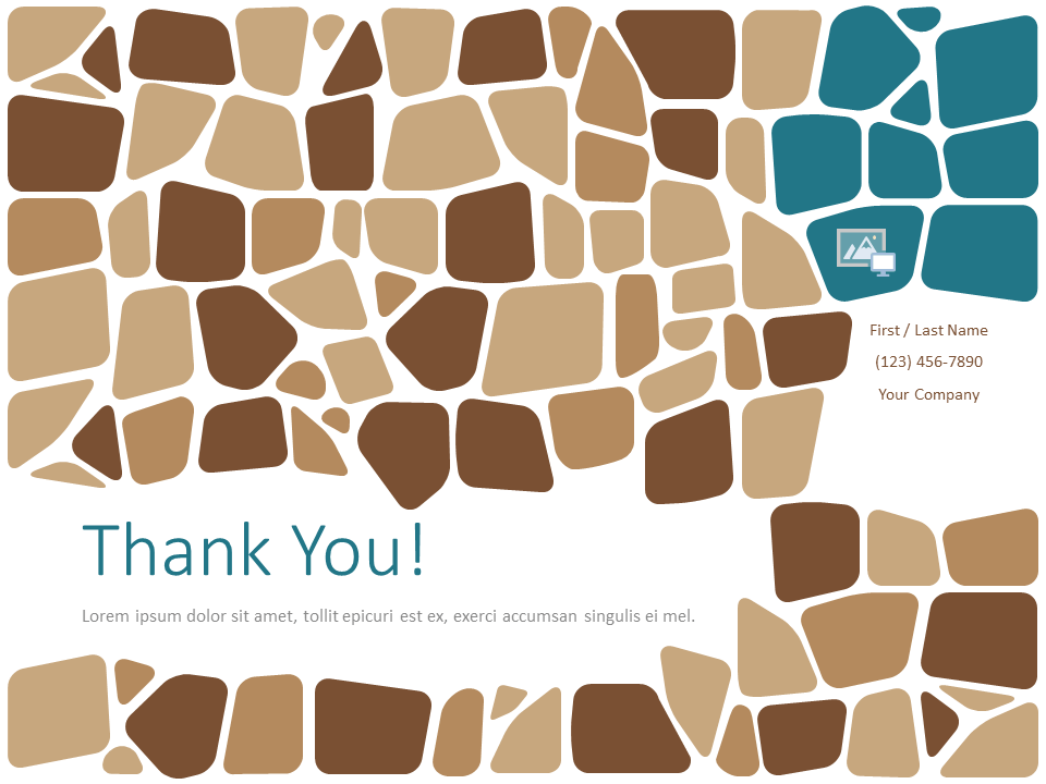 Free Stone Mosaic Template for PowerPoint - Closing / Thank you