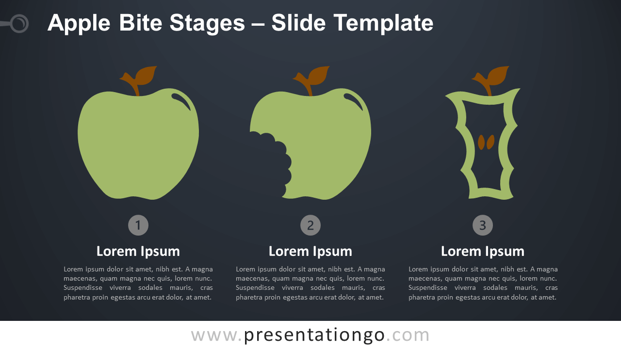 Free Apple Bite Stages Infographic for PowerPoint and Google Slides