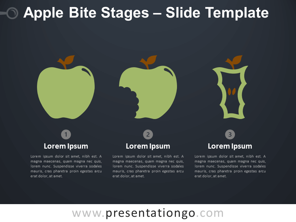 Free Apple Bite Stages Infographic for PowerPoint