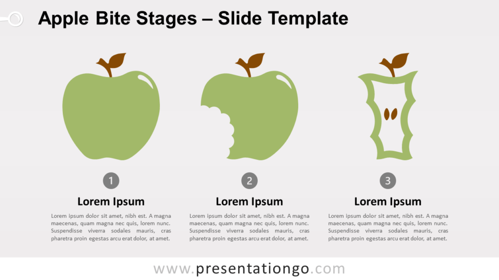 Free Apple Bite Stages for PowerPoint and Google Slides