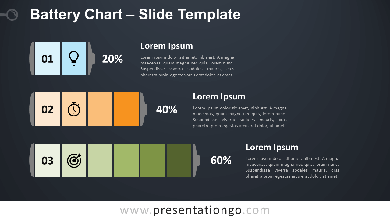 Free Battery Chart Diagram for PowerPoint and Google Slides